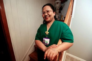 menchu sanchez 300x199 Filipina Nurse Honored by President Obama