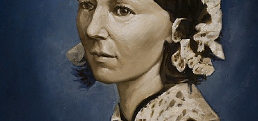 Shop Poster, Florence Nightingale painting portrait painted by Paul Palko for a poster to be sold through the Online healthcare shop.
