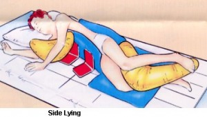 side lying posistion 300x170 Positioning Patients in Bed